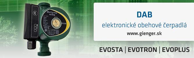 dab elektronické obehové čerpadlá