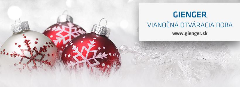 Vianočná otváracia doba gienger