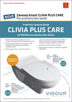 Závesný klozet CLIVIA PLUS CARE